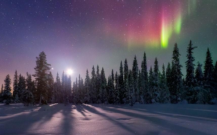яркие краски мира сияние