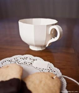 Необычная коробочка - чашка для печенья