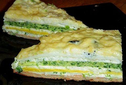 торт-салат снеговик в разрезе