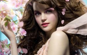 женщина волосы весна