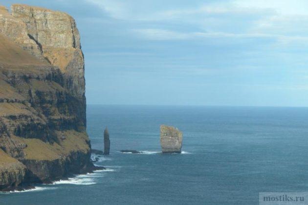 Скалы Risin og Kellingin на Фарерских островах